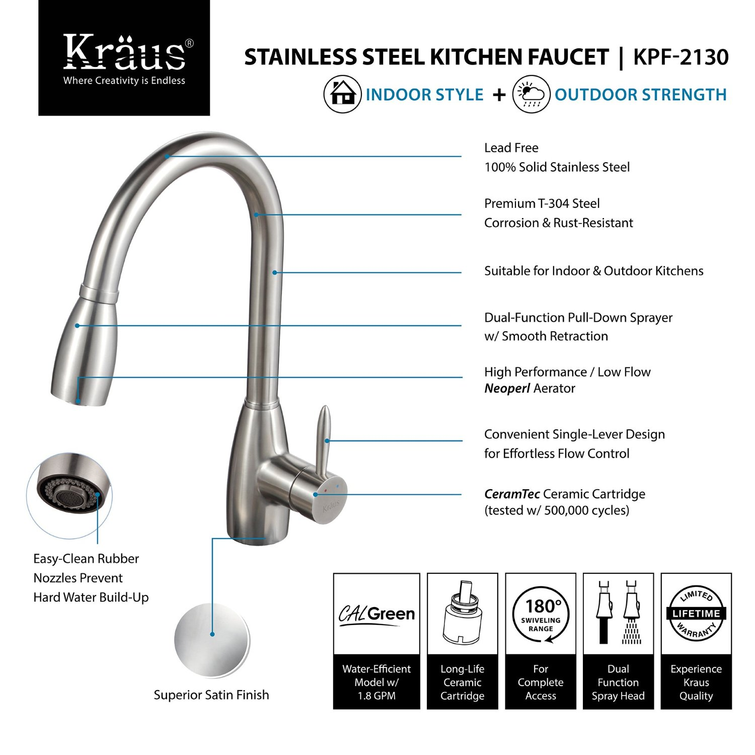 kraus kitchen faucets reviews kraus kpf 2130 single lever stainless steel pull out kitchen faucet review kitchen faucet 296